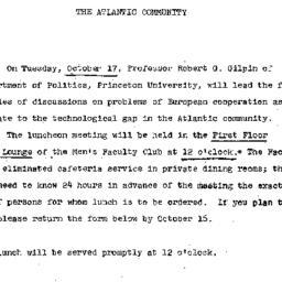 Announcements, 1967-09-27. ...