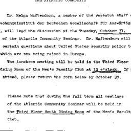 Announcements, 1967-10-17. ...
