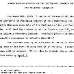 Announcements, 1969-03-17. ...
