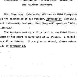 Announcements, 1968-11-04. ...