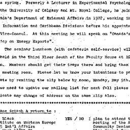Announcements, 1975-05-06. ...