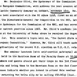 Announcements, 1976-11-16. ...