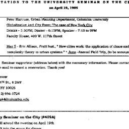 Announcements, 1999-04-19. ...