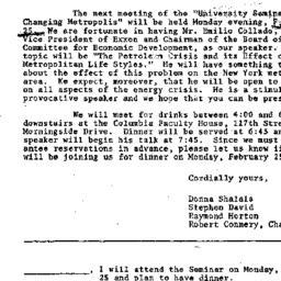Announcements, 1974-02-11. ...