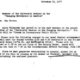 Announcements, 1977-11-21. ...