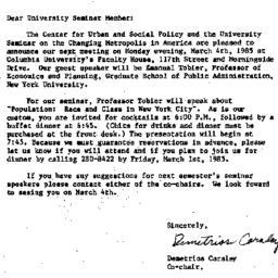Announcements, 1985-02-06. ...