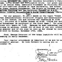 Announcements, 1987-10-24. ...