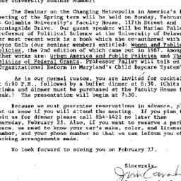 Announcements, 1989-02-10. ...