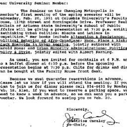 Announcements, 1991-01-25. ...