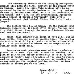 Announcements, 1992-04-02. ...