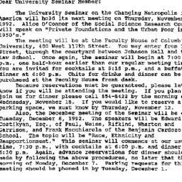 Announcements, 1992-11-05. ...