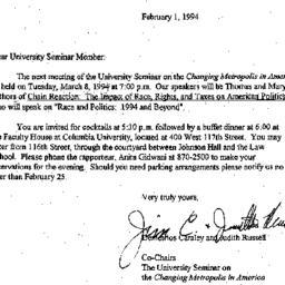 Announcements, 1994-02-01. ...