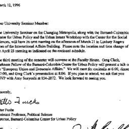 Announcements, 1996-03-12. ...