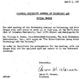 Announcements, 1963-04-01. ...