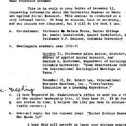 Correspondence, 1971-01-08....