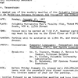Correspondence, 1967-01-06....