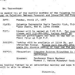 Correspondence, 1967-03-29....