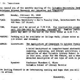Correspondence, 1968-02-06....