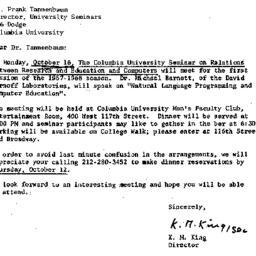 Correspondence, 1967-09-29....