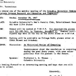 Correspondence, 1967-11-08....
