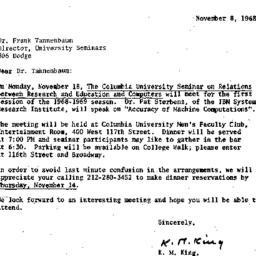 Correspondence, 1968-11-08....