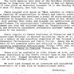 Announcements, 1975-10-20. ...