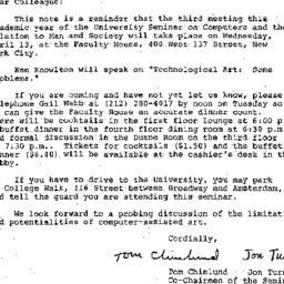 Announcements, 1977-04-05. ...