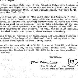 Announcements, 1978-11-21. ...