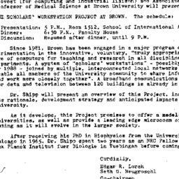 Announcements, 1984-05-05. ...