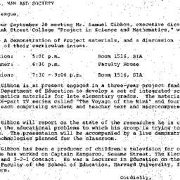 Announcements, 1985-08-27. ...