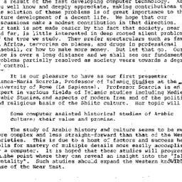 Announcements, 1985-09-04. ...