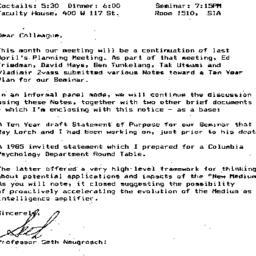 Announcements, 1990-10-21. ...