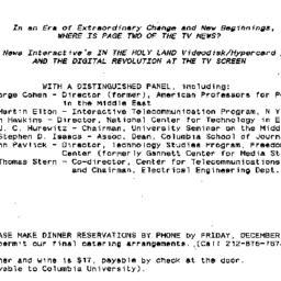 Announcements, 1991-12-18. ...