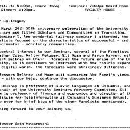 Announcements, 1995-04-19. ...