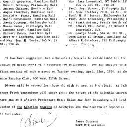 Announcements, 1964-04-21. ...