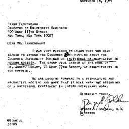 Correspondence, 1964-11-16....