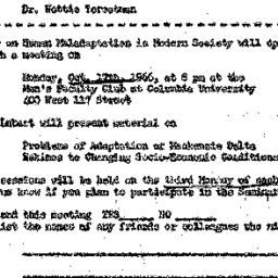 Announcements, 1966-10-17. ...