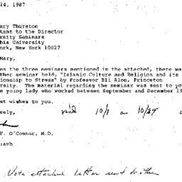 Correspondence, 1987-07-14....