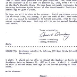 Announcements, 1964-01-12. ...