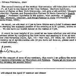 Announcements, 1998-03-30. ...