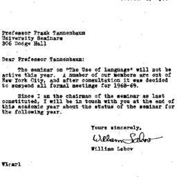 Correspondence, 1968-10-03....