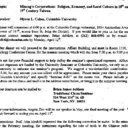 Announcements, 1999-04-13. ...