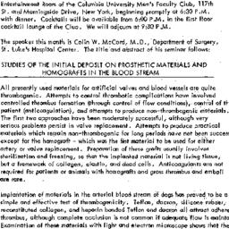 Announcements, 1969-03-05. ...