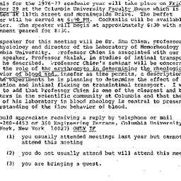 Announcements, 1976-10-11. ...