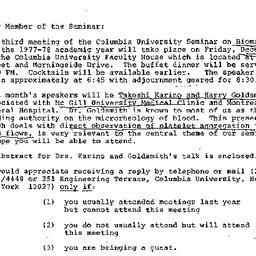 Announcements, 1977-12-06. ...