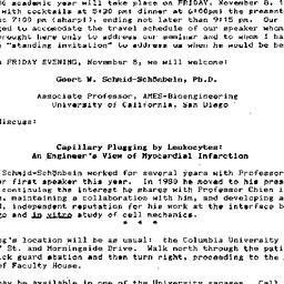 Announcements, 1985-10-28. ...
