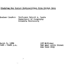 Announcements, 1969-03-03. ...