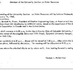 Announcements, 1968-01-29. ...