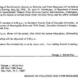 Announcements, 1968-04-18. ...