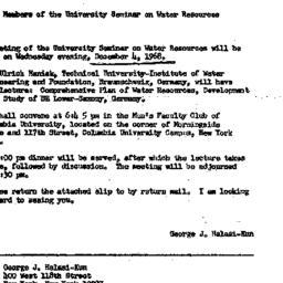 Announcements, 1968-11-11. ...